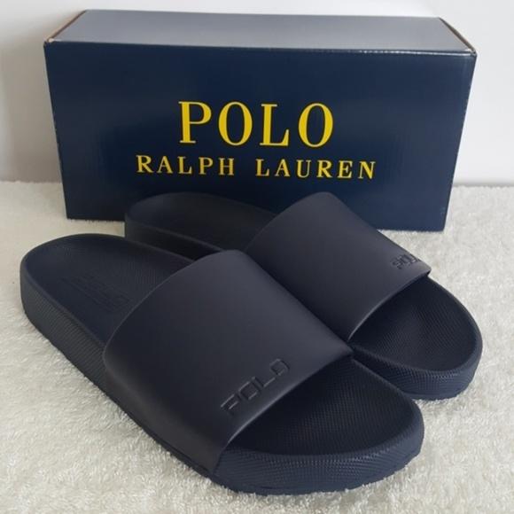 fa5e6c9a3a6f New Polo Ralph Lauren Navy Cayson Slide Sandals
